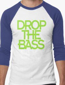 Drop The Bass Bro (black) Men's Baseball ¾ T-Shirt