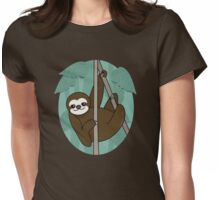 Kawaii sloth Womens Fitted T-Shirt