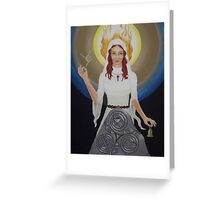 Brigid - Saint and Goddess Greeting Card