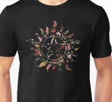 Floral Anti-Possession Symbol Unisex T-Shirt