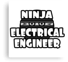 Ninja Electrical Engineer Canvas Print