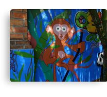 The Monkey - Graffiti - El Chango Canvas Print
