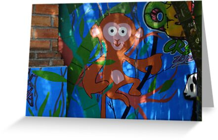 The Monkey - Graffiti - El Chango by Bernhard Matejka