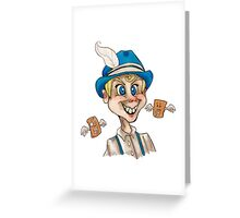Creepy Toaster Strudel Boy Greeting Card