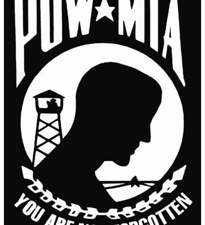 POW MIA Flag - You Are Not Forgotten Sticker