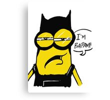 MInion batman Canvas Print