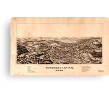 Panoramic Maps Townsend Center Mass Canvas Print