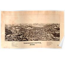 Panoramic Maps Townsend Center Mass Poster