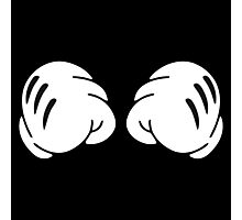 Funny Boxing hands . Workout and Fitness Motivation Photographic Print
