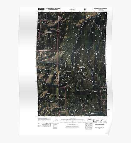 USGS Topo Map Washington State WA Bodie Mountain 20110509 TM Poster