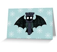 Winter Bat Greeting Card
