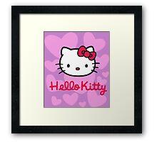 Hello Kitty Love Purple Framed Print