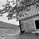 Boathouse (nearly in) Lake Willoughby, Vermont by ColinKemp