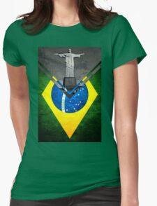 Flags - Brazil Womens Fitted T-Shirt