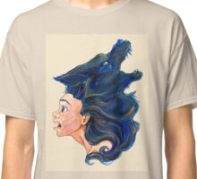 Fear Editorial Traditional Illustration Classic T-Shirt