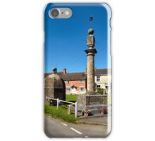 The Blind House and Market Cross, Steeple Ashton, Wiltshire, UK iPhone Case/Skin