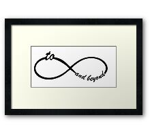 Funny Infinity sign for couples Framed Print
