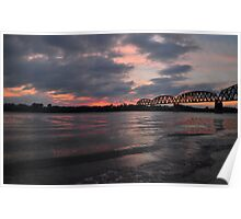 Ohio River Sunset Poster