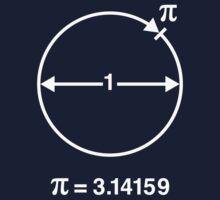 Pi / ∏ / π / Mathematics / Geometry (UK & US / White) Kids Tee