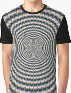 Brain-Buster in Blue Green and Pink Graphic T-Shirt