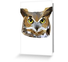 Low Poly Owl Greeting Card