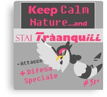 Tranquill, Keep Calm Nature FULL GREY Canvas Print