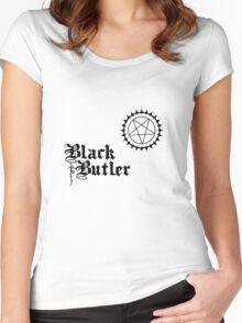Black Butler 2 Women's Fitted Scoop T-Shirt