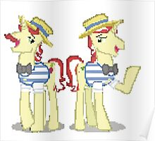 Flim Flam My Little Pony Brony Pegasister Pixel Poster