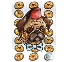 Pug & biscuits Poster
