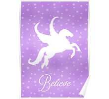 Pretty Pegasus Silhouette Poster