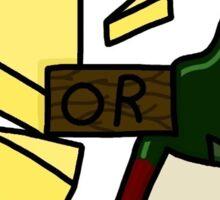 Wine or Cheese - Hat Films Sticker