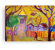 another lonely walk Canvas Print