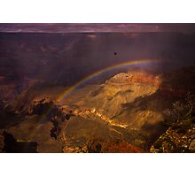 Rainbow in the Grand Canyon Photographic Print