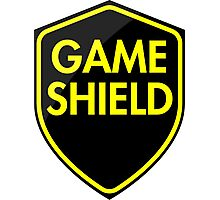 Game Shield (yellow) Photographic Print