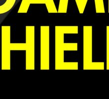 Game Shield (yellow) Sticker