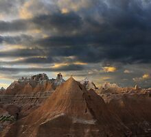 Sunset at the Badlands by Vivian Christopher