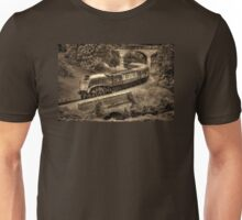 Sir Nigel Gresley Locomotive - Sepia Unisex T-Shirt