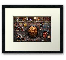 Steampunk - Information overload Framed Print