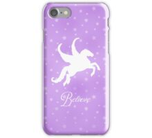 Pretty Pegasus Silhouette  iPhone Case/Skin