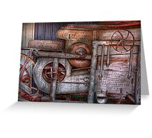 Steampunk - My new and improved machine Greeting Card
