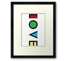 Love Cubism Framed Print