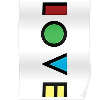 Love Cubism Poster