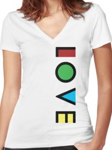 Love Cubism Women's Fitted V-Neck T-Shirt