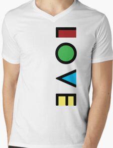 Love Cubism Mens V-Neck T-Shirt