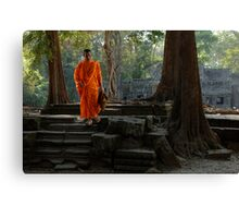 Tranquil Surroundings Ta Prohm Cambodia Canvas Print