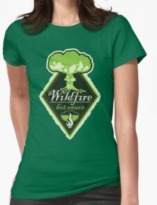 WILDFIRE HOT SAUCE Womens Fitted T-Shirt