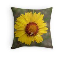 Grasshopper on Flower Throw Pillow