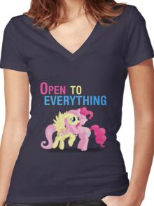 Open to everything Women's Fitted V-Neck T-Shirt
