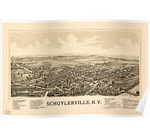 Panoramic Maps Schuylerville NY Poster