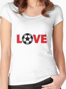 Football – Love / Soccer – Love Women's Fitted Scoop T-Shirt